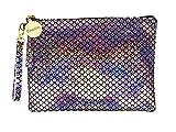 Bewaltz Wristlet Mermaid Makeup Pouch Handbag Multifunctional Clutch Bag Makeup Bag Cosmetic Bag Makeup Bag Toiletry Travel Bag Handy Large Protable Wash Pouch, Waterproof, Silver