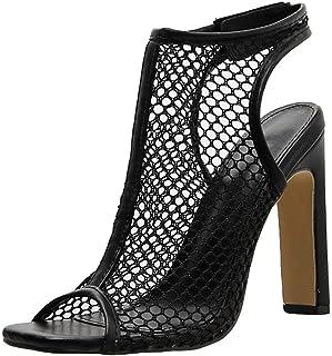 2dde7a61f9b Bluestercool Mujer Verano Casual Moda Hollow Camiseta Sandalias Discoteca  Tacones Altos Zapatos
