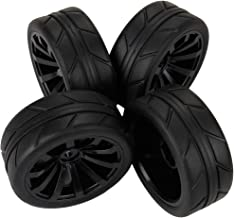 Yiguo 4pcs Black RC 1:10 Tyre Tires & Wheels for HSP REDCAT HIMOTO 1/10 Scale Car