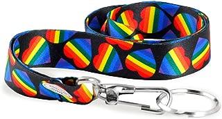 LGBTQ - Rainbow Heart Gay Pride Lanyard/Badge Holder