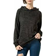 FITNEXX Womens Long Sleeve Hoodies Sweatshirt Lightweight Tunic Tops Pullover Color Block Blouses with Pockets