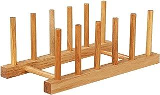 1PCS Kitchen Organizer Shelf Kitchen Dish Plate Cup Pot Wooden Storage Rack Shelf Drain Cup Holder Kitchen Accessories,B