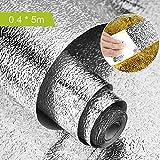 Keleily Papel de Aluminio Adhesivo, Adhesivo para Azulejos de Cocina Adhesivo de Pared Autoadhesivo Antideslizante Resistente al Agua para Cocina, Gabinete, Cajones, Pared, Plata, 40 cm x 5 m - C