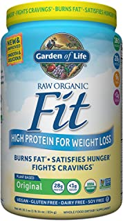 Garden of Life Organic Meal Replacement - Raw Organic Fit Powder, Original - High Protein for Weight Loss (28g) Plus Fiber, Probiotics & Svetol, Organic & Non-GMO Vegan Nutritional Shake, 20 Servings