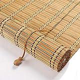 STTG-Rollläden für die Inneneinrichtung, Bambusjalousien mit Einer Beschattungsrate von 70%, Staub- und UV-Jalousien, Wohnzimmer Schlafzimmer Garten-Karbonisierung_90 × 160_cm