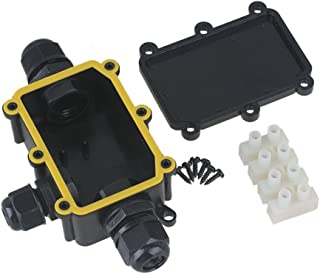 CNBTR Outdoor Waterproof IP68 Junction Box 3 Way Cable Wire Connector Protection Gland Electrical With 3 Terminal