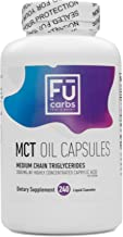 FŪ Carbs MCT Oil Capsules - 240 count, 3000 mg per serving healthy fat supplement to stimulate ketosis, with c8 and c10 medium chain triglycerides. Quality/convenience for the ketogenic, keto diet.