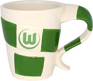 VfL Wolfsburg Tasse - Schal - Kaffeetasse, Kaffeepott, Mug - Plus Lesezeichen Wir lieben Fußball