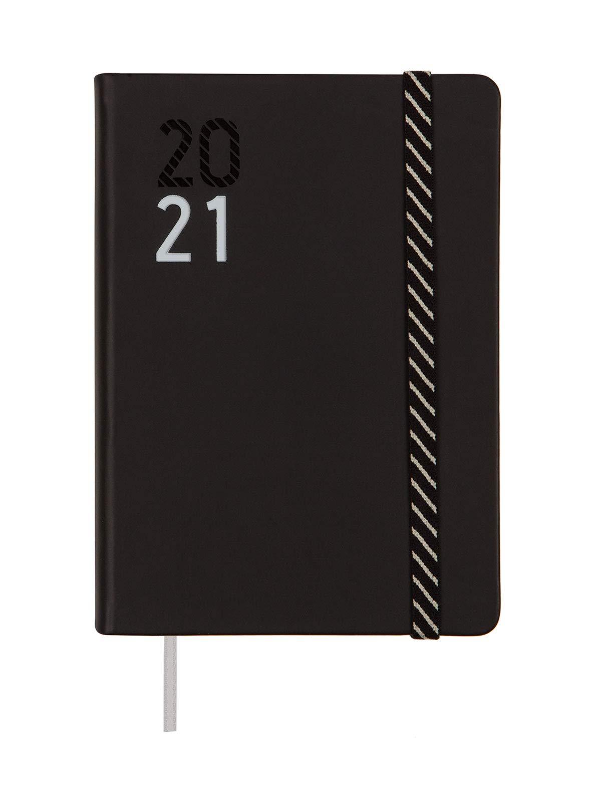 Finocam - Agenda Curso 2020-2021 M4-118 x 168 1 Día Página Natural Croma Negro Catalán: Amazon.es: Oficina y papelería