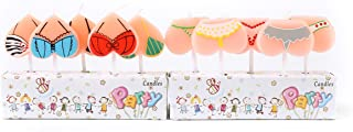 ICASA Funny Bikini Birthday Candles, Party Cake Candles Cake Topper Decor, 10-Pack 2.5 inch Celebration Party Candle