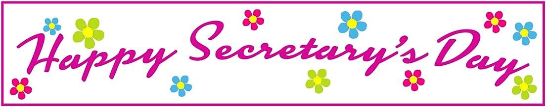 Cool TV Props pancarta de feliz día de la Secretaria, como se ve en la oficina