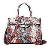 Women's Zipper PU(Polyurethane) / PU Top Handle Bag Snakeskin,Blushing Pink