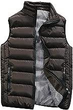 IZHH Mens Puffer Vest Jacket Quilted Sleeveless Zip Winter Outwear Jacket Gilet