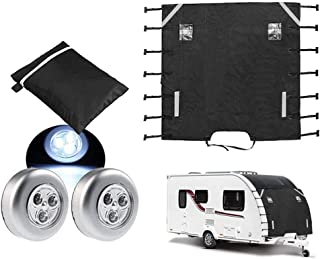 PRO Premium Travel Trailer RV Cover Breathable 4 Layer Non-Woven Material All Year Protection 5.18-5.79m 17-19ft, Green Asteri Caravan /& Motorhome Cover