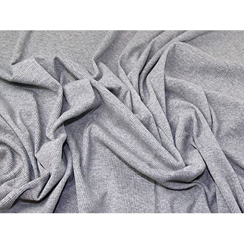 9f030a299e9 Plain Rib Stretch Jersey Knit Dress Fabric Grey - per metre