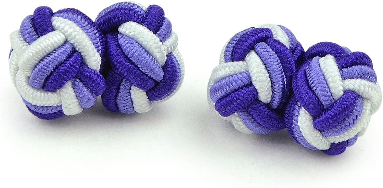 Moda Di Raza- Mens Shirt Cufflinks Silk Knot Designer Cuff Links French Cuffs