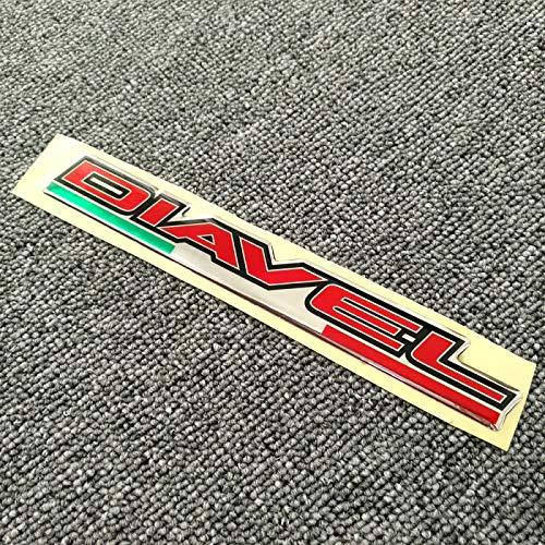 WHJIXC Für Ducati Diavel 1260S 1260 S, Tank Pad 3D Logo Seitenwand Aufkleber Kraftstoffschutz Verkleidung Emblem Motorrad Aufkleber
