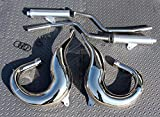 New 1987-2006 Yamaha Banshee Chrome In Frame Shearer Drag Pipes Small Bore
