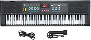 61 Keys Keyboard Piano, Electronic Digital Multifunctional Piano with Built-in Speaker Microphone, Portable Electronic Key...