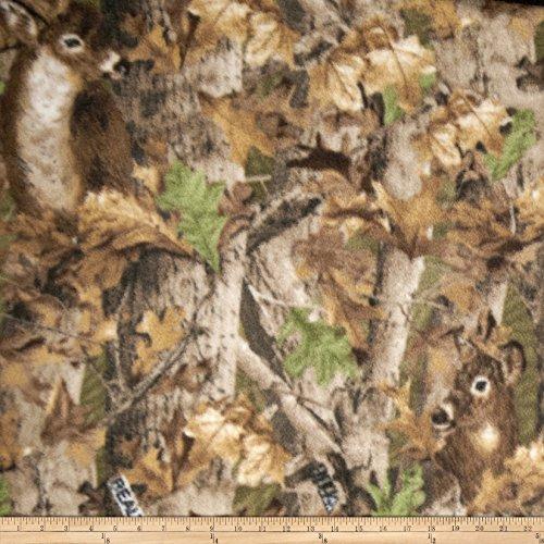 Realtree 0343624 Deer Print Fleece Fabric by The Yard, Camo
