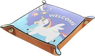 Vockgeng Nuages de Licorne Boîte de Rangement Panier Organisateur de Bureau Plateau décoratif approprié pour Bureau à Do...