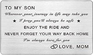 بطاقة المحفظة للابن، حيث قد تأخذك رحلتك في الحياة إلى تقديمها كهدية للابن من الأم والأب، محفورة في المحفظة Son، بطاقة عيد ...