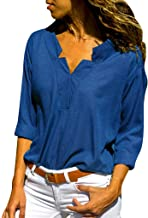 Women's Tops Spring and Fall Fashion Solid Stand Collar Long Sleeve Shirts Blouse