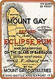 YASMINE HANCOCK Cartel de lata con diseño de monte gay eclipse de ron para pared, decoración retro