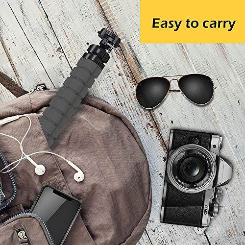 Tripod Oktopus Handy Stativ Kamera-Stativ Ständer Dreibein Stativ Halter für Kamera und jedes Smartphone inklusive Handyhalterung (Stativ mit Bluetooth-Fernbedienung)
