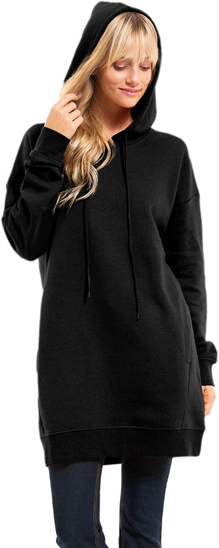 Design by Olivia Women's Casual Oversized Long Sleeve Fleece Hoodie Sweatshirts Loose Pullover Tunic S~3X