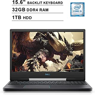 Dell G5 15 5590 15.6 Inch FHD 1080P Gaming Laptop (9th Gen Intel Quad Core i5-9300H up to 4.1 GHz, 32GB DDR4 RAM, 1TB HDD,...