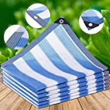 WJJ Toldos Exterior Toldo Camuflaje 85% Resistente Resistente Durante Sunshade HDPE Sun Mesh Shada Paño con Ojales para Jardín, Patio, Invernadero, Flor (Color: Azul) (Color : Blue, Size : 3x8m)