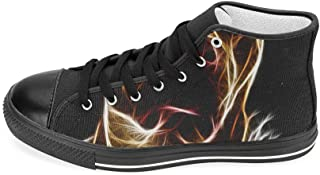 Aquila High Top Canvas Lace Up Shoes Trainers Walking Casual Comfort Shoes for Men Boy