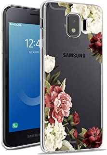 Galaxy J2 Core Case,Galaxy J2 Dash/J2 Pure/J260 Phone Case with Flowers, Ueokeird Slim Shockproof Clear Floral Pattern Soft Flexible TPU Back Phone Cover for Samsung Galaxy J2 Core (Blossom Flower)