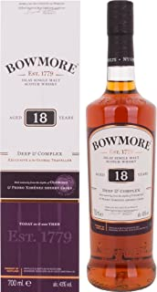 Bowmore 18 Years Old Deep & Complex Whisky mit Geschenkverpackung 1 x 0.7 l