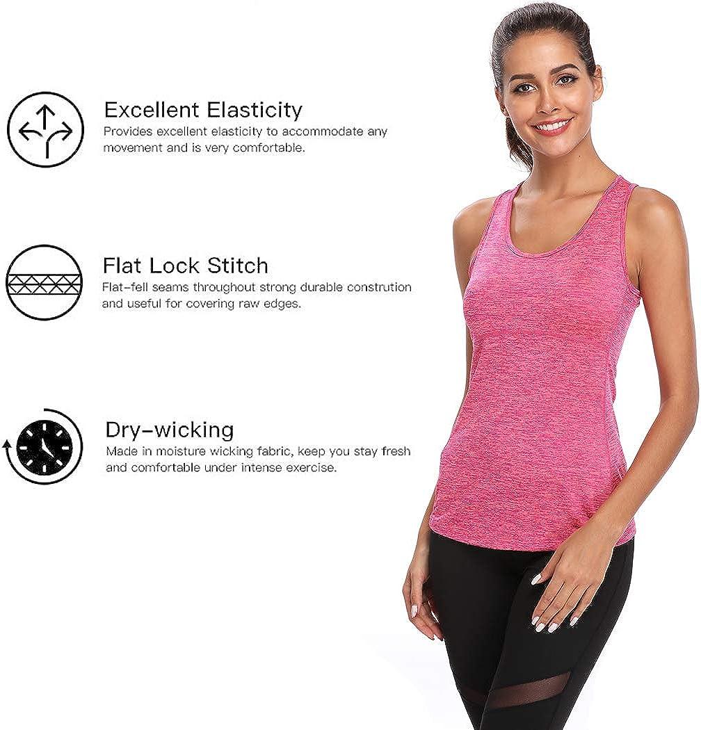 Joyshaper Camiseta de Deportes para Mujer Top de Tirantes Chaleco Ajustado de Compresi/ón de Secado R/ápido