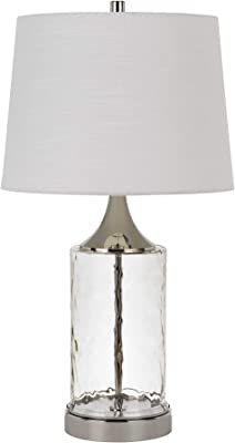 Cal Lighting BO-2864TB-2 Forssa 150W 3 Way Glass Table Lamps (Sold and Priced as Pairs), Chrome