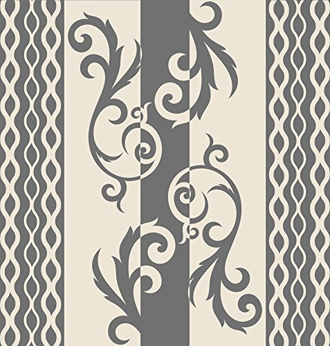 GRAZDesign 750099 Muurtattoo Ornamenten Retro | Wandbanner Sticker in retrostijl | Muurstickers als wanddecoratie 60x57cm 816, antiek wit.