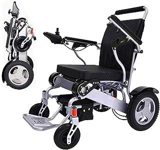 Sillas de ruedas eléctricas para adultos Silla de ruedas ligera eléctrica plegable, silla de ruedas motorizada, compacto (peso neto de 23 kg) silla de ruedas eléctrica, batería dual, seguro y fácil de