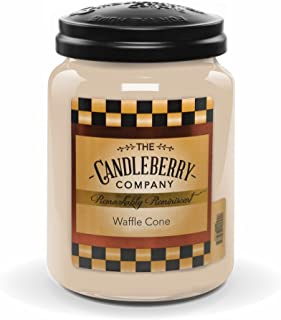 Candleberry WAFFLE CONE, Fine Fragrance Candle For The Home, Large Glass Jar, 26 oz