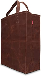 Trumno Reusable Grocery Bag, Heavy Duty Shopping Tote Bags, Waxed Canvas, Biodegradable, Foldable and Eco Friendly