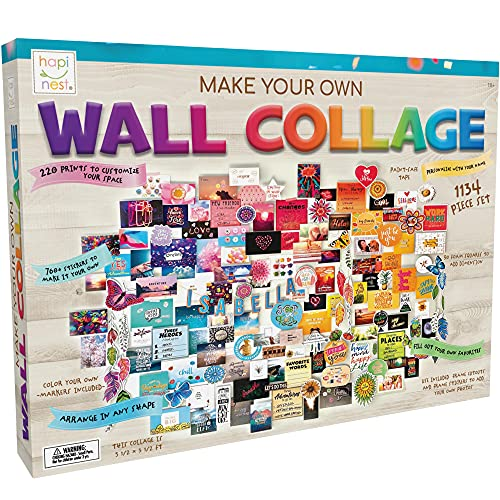 Hapinest DIY Wall Collage Picture Arts and Crafts Kit for Teen Girls Gifts Ages...