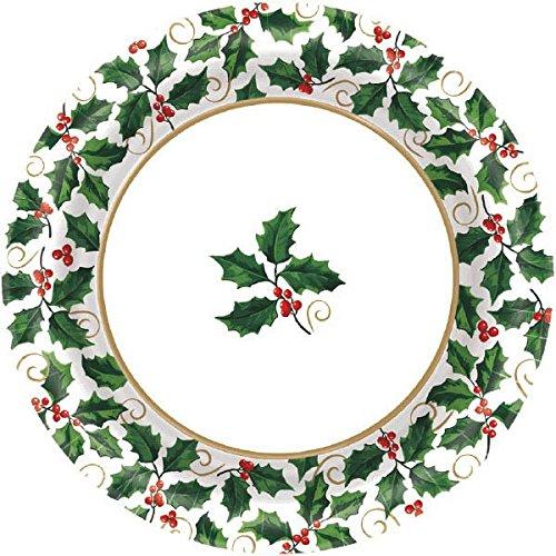Small Seasonal Holly Value Plates, 40 Ct.   Christmas Tableware