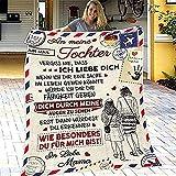 JOOLEE Manta mullida de franela para regalo, con nombre, regalo para mamá, papá, a mi hijo y a mi hija, supersuave, 150 x 200 cm