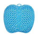 BESKAR Larger Shower Foot Scrubber Mat with Non-Slip Suction Cups- Cleans, Smooths, Exfoliates & Massages Your Feet Without Bending, Foot Circulation & Soothes Tired Feet, Great for Shower or Bathtub