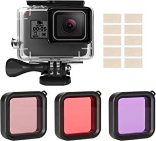 iTrunk Accessories for Gopro Hero 2018 (HD) 7 6 5 Black Kits with Waterproof Protective Housing Case + 3 Pack Diving Filter+ Anti-Fog Insert Kits for Gopro Hero6 Hero5 Hero 2018 Action Camera