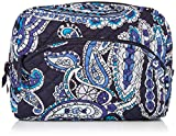 Vera Bradley Women's Signature Cotton Large Cosmetic Makeup Bag, Deep Night Paisley, One Size