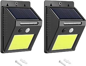 AUSELECT Solar Lights Outdoor 48 LEDs Motion Sensor Wireless Waterproof Security Light, Solar Lights for Patio, Yard, Driv...