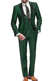 Amazon.es: Verde - Trajes / Trajes y blazers: Ropa