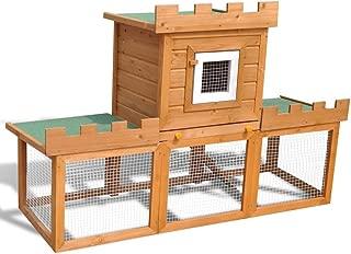Tidyard Outdoor Large Rabbit Hutch House Pet Cage Single House 142 x 50 x 101 cm